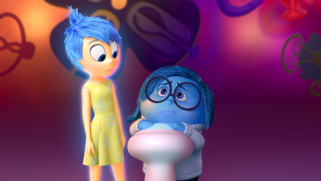 INSIDE OUT – Pictured (L-R): Joy, Sadness. ©2015 Disney•Pixar. All Rights Reserved.