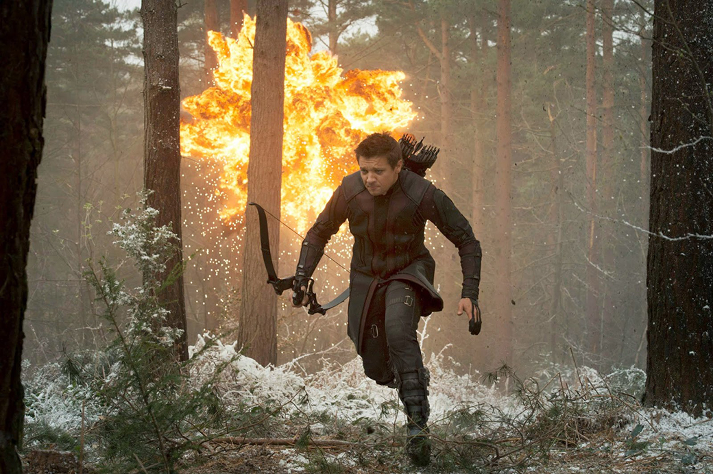 Jeremy Renner's Hawkeye is foregrounded in AGE OF ULTRON.