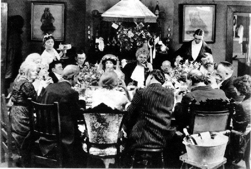 """The wedding banquet in Von Stroheim's """"Greed"""". (The Banquet at the World's End?)"""
