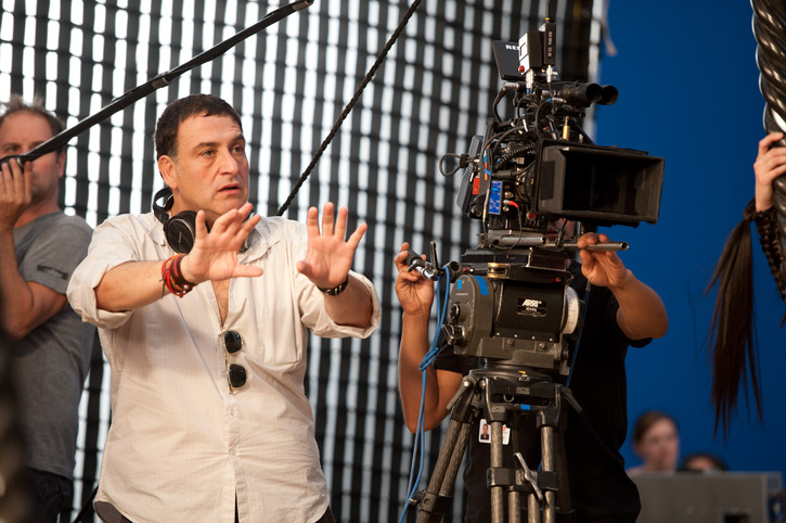 Noam Murro on the set of 300: RISE OF AN EMPIRE