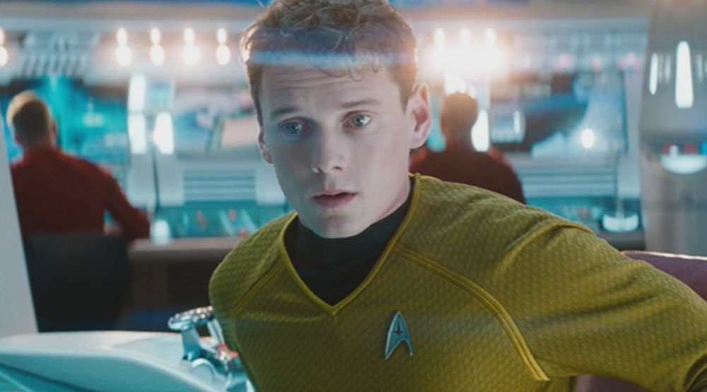Yelchin as Pavel Chekov in the STAR TREK reboots.