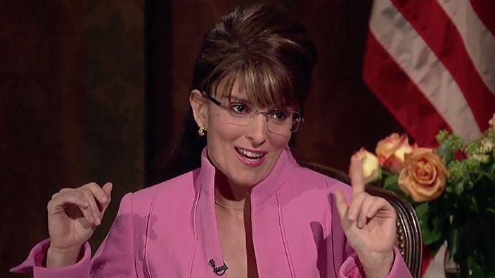 Tina Fey as Sarah Palin on SNL, circa the 2008 presidential election.