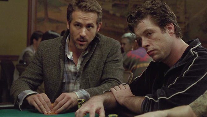 Ryan Reynolds and Ben Mendelsohn in MISSISSIPPI GRIND.