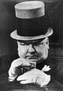 Original Caption: W.C. Fields in typical poker face pose. Undated photograph.