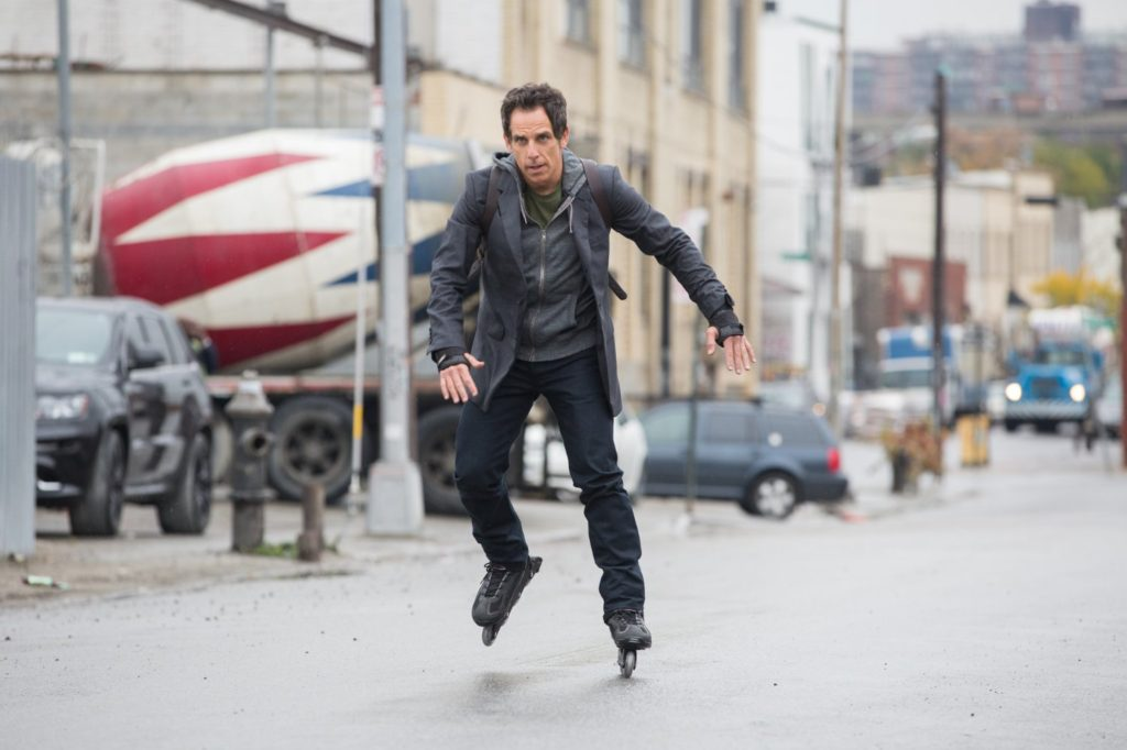 Reduced to riding the subway, Walter Mitty is forced to realize he isn't the roller-blader he once was.