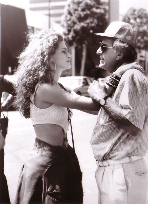 Julia Roberts and Garry Marshall on the set of Pretty Woman (1990)