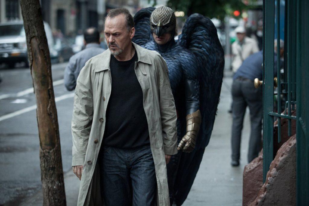 Riggan is followed by Birdman everywhere he goes.