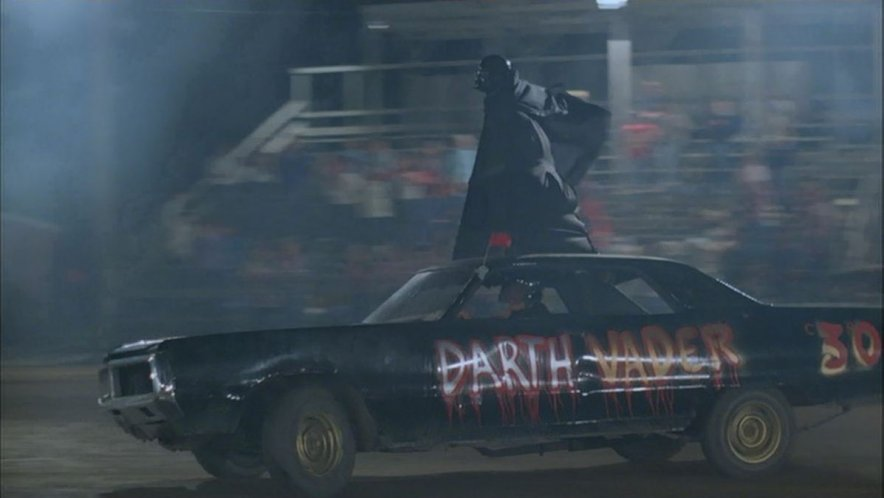Even the Dark Lord of the Sith makes an appearance at the demolition derby!