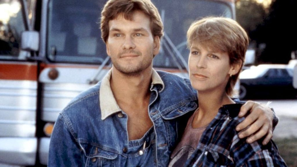 Swayze and Curtis in GRANDVIEW U.S.A.