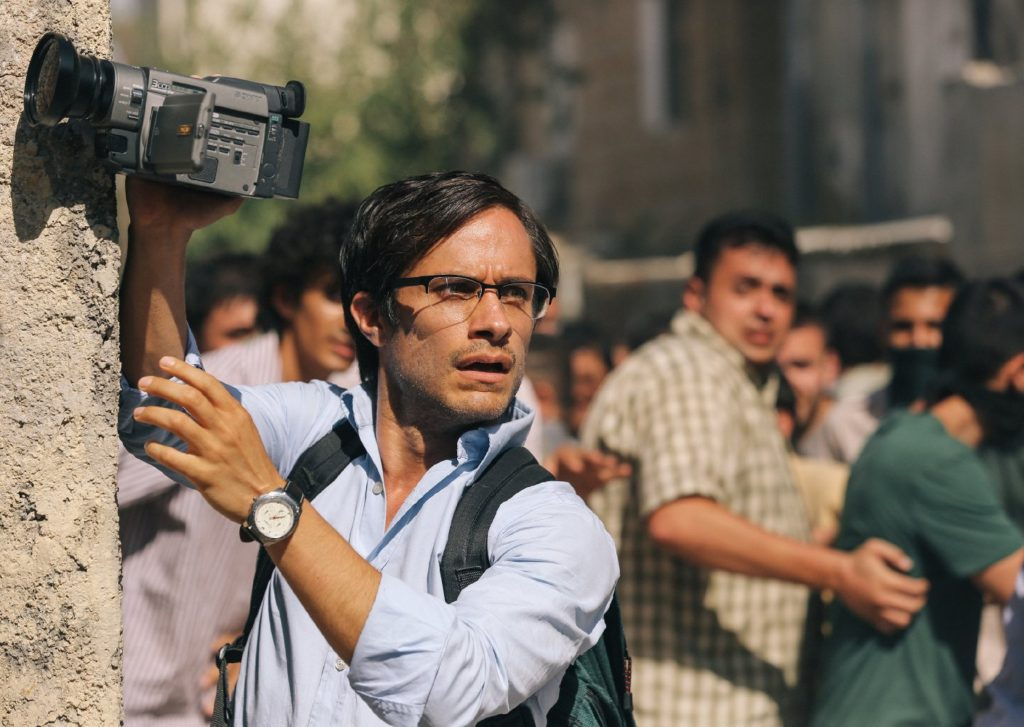 Gael García Bernal as Maziar Bahari , about to get into big trouble in ROSEWATER.