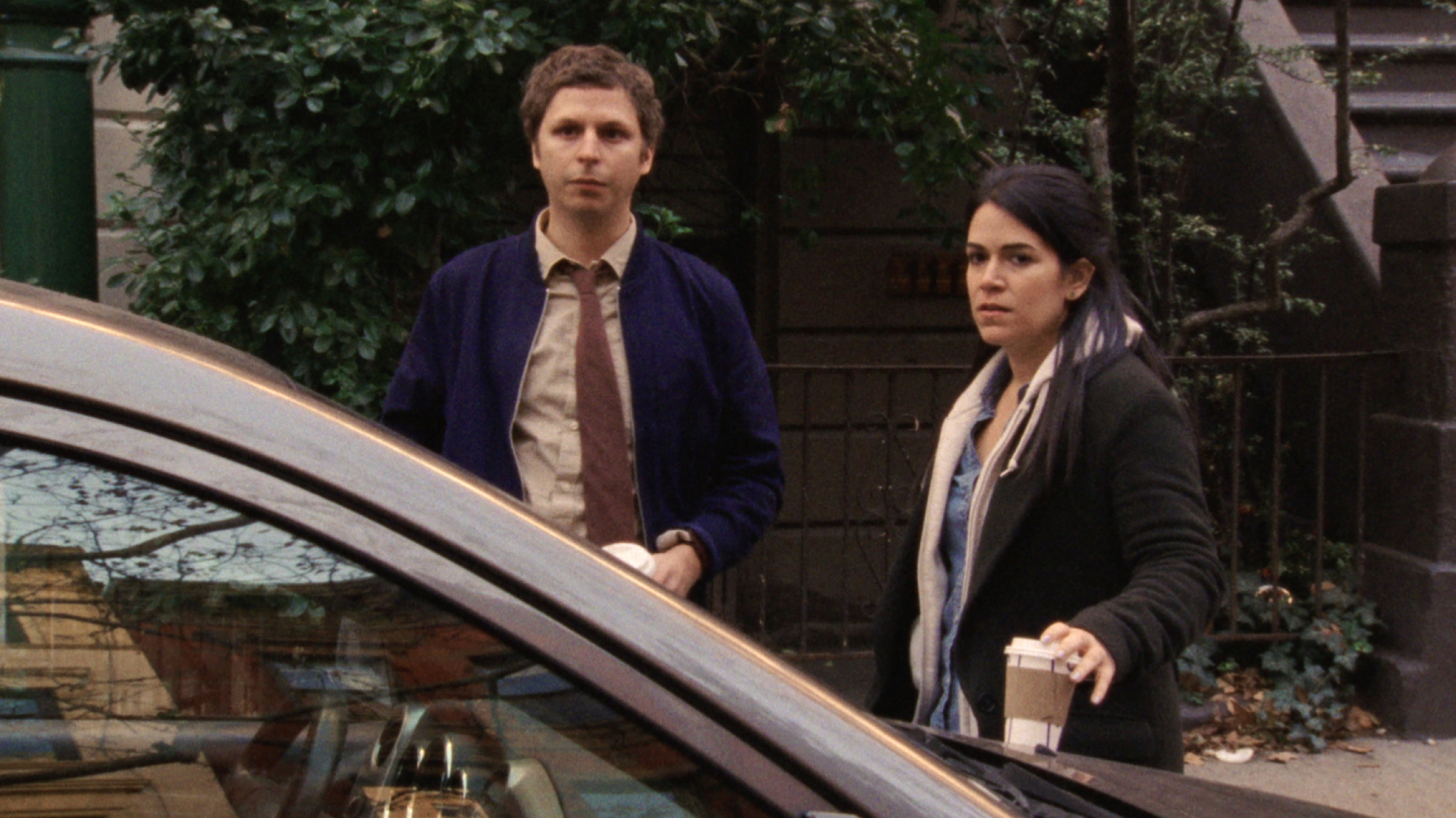 Michael Cera and Abbi Jacobson in Person to Person (2017)