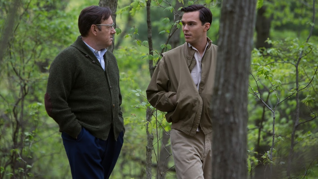 Kevin Spacey and Nicholas Hoult in REBEL IN THE RYE (2017)