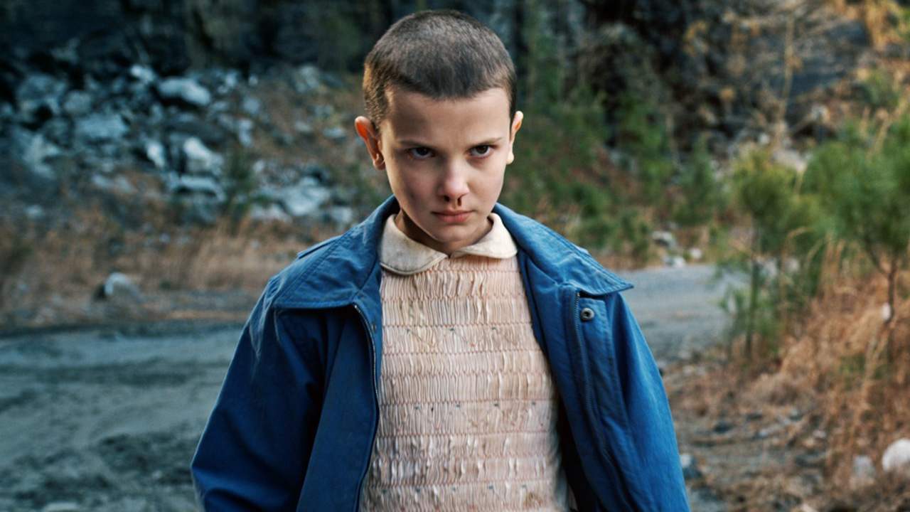 Millie Bobby Brown as Eleven in STRANGER THINGS (2016)